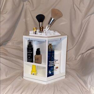 White Acrylic Makeup Organizer